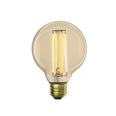 Bulbrite LED G25 4W Nostalgic 2200K Antique Amber 280D Light Bulb, 2 Pack (776500)