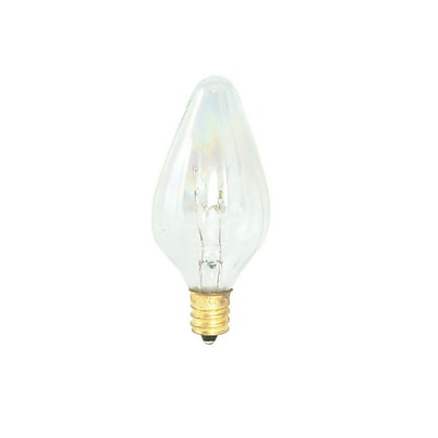 Bulbrite Incandescent (INC) F10 15W Dimmable Fiesta Clear 2700K Warm White Light Bulb, 25 Pack (420115)