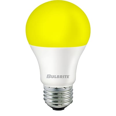 Bulbrite LED A19 9.5W Yellow Bug 2700K Warm White Light Bulb, 2 Pack (774000)