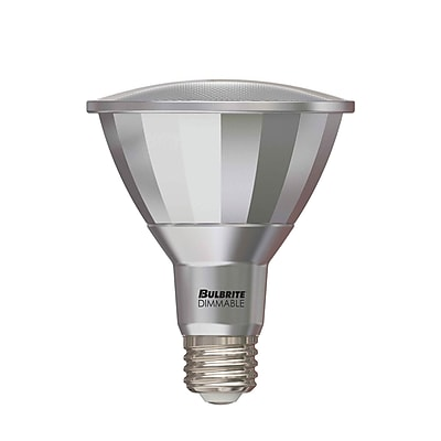Bulbrite LED PAR30LN 13W Dimmable Outdoor Rated 4000K Cool White 25D Light Bulb, 2 Pack (772736)