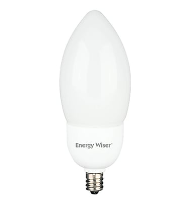 Bulbrite Compact Fluorescent (CFL) B11 5W 2700K Warm White Light Bulb, 6 Pack (513004)