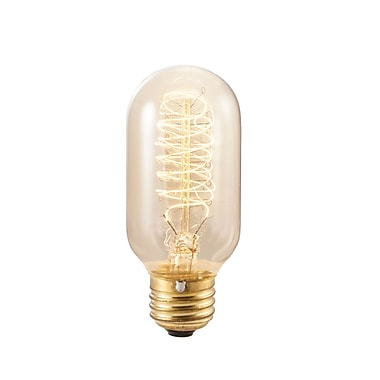 Bulbrite Incandescent (INC) T14 40W Dimmable Nostalgic 2200K Antique Amber Light Bulb, 4 Pack (134014)