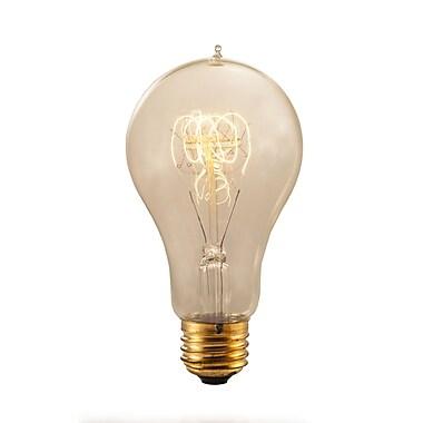 Bulbrite Incandescent (INC) A21 40W Dimmable Nostalgic 2200K Antique Amber Light Bulb, 4 Pack (134030)