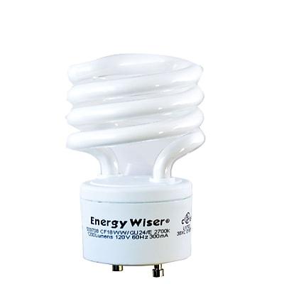 Bulbrite Compact Fluorescent (CFL) T2 18W 2700K Warm White Light Bulb, 4 Pack (509708)