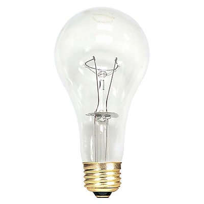 Bulbrite Incandescent (INC) A21 150W Dimmable Clear 2700K Warm White Light Bulb, 12 Pack (101151)