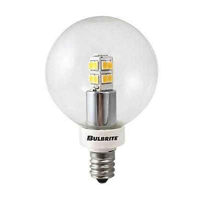 Bulbrite LED G16 2.5W 2700K Warm White 270D Light Bulb, 2 Pack (770145)