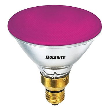 Bulbrite Halogen PAR38 90W Dimmable 2900K Pink Light Bulb, 2 Pack (683906)