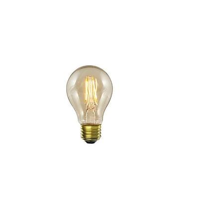 Bulbrite LED A19 5W Dimmable Nostalgic 2200K Antique Amber Light Bulb, 2 Pack (776602)