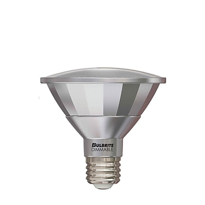 Bulbrite LED PAR30SN 13W Dimmable Outdoor Rated 4000K Cool White 25D Light Bulb, 2 Pack (772726)