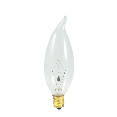 Bulbrite Incandescent (INC) CA10 25W Dimmable Clear 2700K Warm White Light Bulb, 50 Pack (493025)