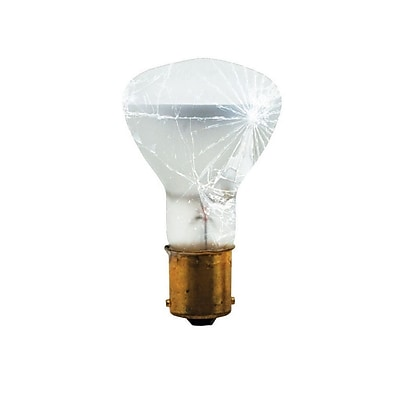 Bulbrite Incandescent (INC) R12 20W Dimmable Tough Coat 2700K Warm White Light Bulb, 10 Pack (752531)