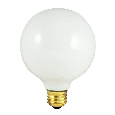 Bulbrite Incandescent (INC) G40 25W Dimmable 2700K Warm White Light Bulb, 12 Pack (350025)