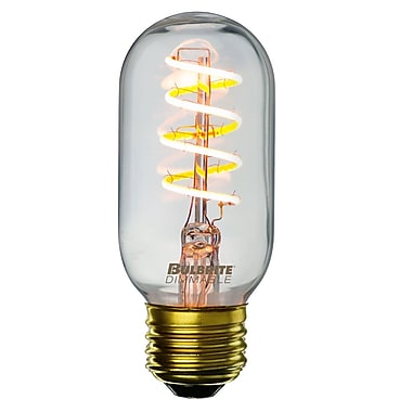 Bulbrite LED T14 4W Dimmable Nostalgic 2200K Antique Amber, Light Bulb, 2 Pack (776511)