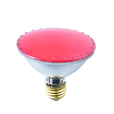 Bulbrite Halogen PAR30SN 75W Dimmable 2900K Red 38D Light Bulb, 4 Pack (683757)