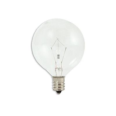 Bulbrite Krypton G16.5 40W Dimmable Clear 2700K Warm White Light Bulb, 20 Pack (461240)