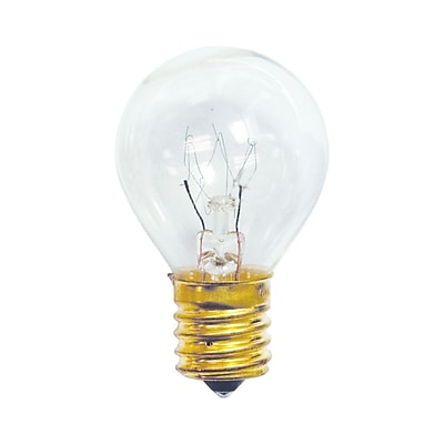 Bulbrite Incandescent (INC) S11 10W Dimmable Clear 2700K Warm White Light Bulb, 25 Pack (702110)
