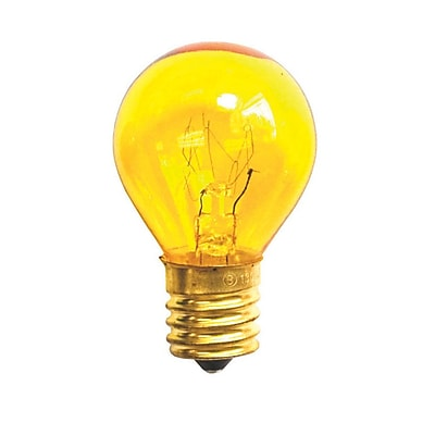 Bulbrite Incandescent (INC) S11 10W Dimmable 2700K Transparent Yellow Light Bulb, 25 Pack (702810)