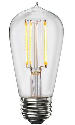 Bulbrite LED ST18 7W Dimmable 3000K Warm White Light Bulb, 2 Pack (776669)
