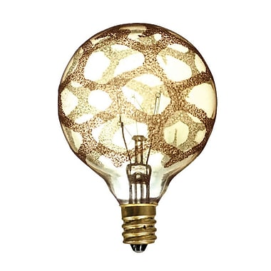 Bulbrite Incandescent (INC) G16.5 40W Dimmable Nostalgic Amber Marble Light Bulb, 6 Pack (144026)