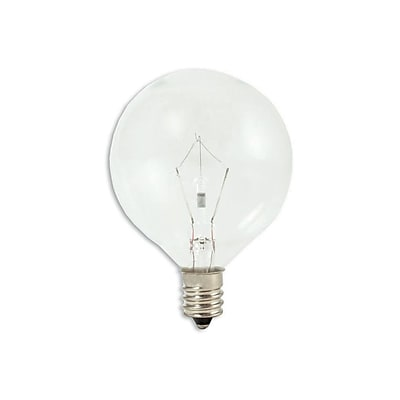 Bulbrite Krypton G16.5 60W Dimmable Clear 2700K Warm White Light Bulb, 20 Pack (461260)