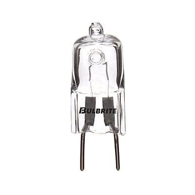 Bulbrite Halogen T4 50W Dimmable Clear 2900K Soft White Light Bulb, 5 Pack (655050)