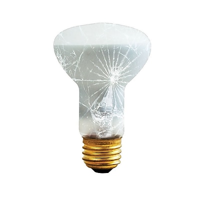 Bulbrite Incandescent (INC) R20 50W Dimmable Frost Tough Coat 2700K Warm White Light Bulb, 6 Pack (280250)