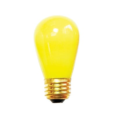 Bulbrite Incandescent (INC) S14 11W Dimmable Ceramic Yellow Light Bulb, 25 Pack (701801)