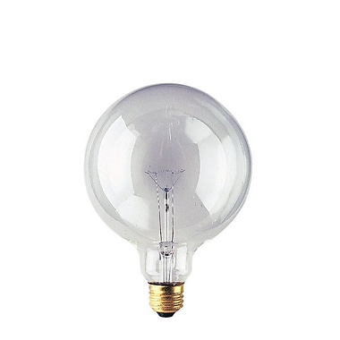 Bulbrite Incandescent (INC) G40 25W Dimmable Clear 2700K Warm White Light Bulb, 12 Pack (351025)