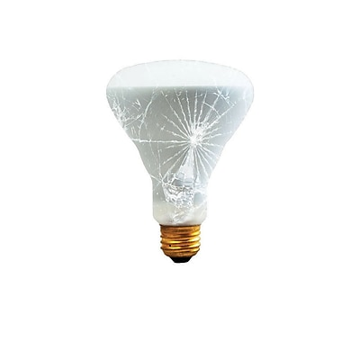 Bulbrite Incandescent (INC) BR30 65W Dimmable Frost Tough Coat 2700K Warm White Flood Light Bulb, 6 Pack (280465)