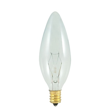 Bulbrite Incandescent (INC) B10 60W Dimmable Clear 2700K Warm White Light Bulb, 25 Pack (400560)