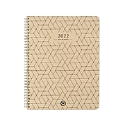 "2022 AT-A-GLANCE 8.5"" x 11"" Weekly & Monthly Planner, Elevation Eco, Wheat (75-950R-11-22)"