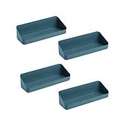 "Poppin 1-Shelf Plastic Mounted, 12.5"", Slate Blue, 4/Pack (108516)"
