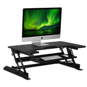 "Mount-It! Sit Stand Desk Converter, Height Adjustable Standing Desk, 36"" x 25"" Ergonomic Stand-Up Workstation (MI-7926)"