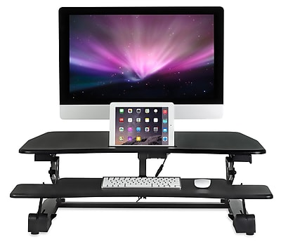 MountIt Electric Sit Stand Workstation Standing Desk Converter
