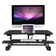 "Mount-It! Electric Standing Desk Converter, Motorized Height Adjustable Sit Stand Workstation, 35.4"" x 23.2"" Platform (MI-7927E)"