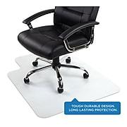 "Mount-It! 35.5"" x 47"" Rectangular Desk Chair Mat for Hardwood Floor, Clear PVC (MI-7818)"
