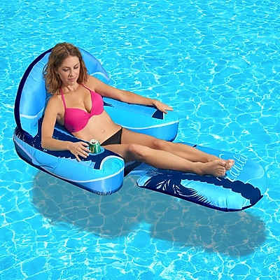 Blue Wave Drift + Escape Inflatable Pool Lounger (NT3021)