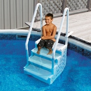 Blue Wave 2.71' W Resin Simple Step for Above Ground Pools (NE1087WH)