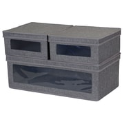 Household Essentials Vision Lidded Storage Box 3-Piece Set (508-3)