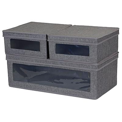 Household Essentials Vision Lidded Storage Box 3-Piece Set (508-3)