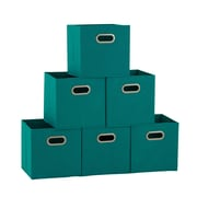 Household Essentials 6 Ct Open Fabric Cube Storage Bins (83-1)