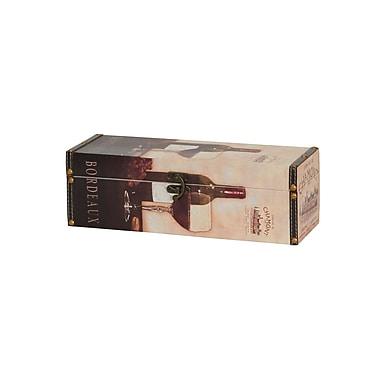 Household Essentials Decorative Horizontal Wine Caddy Gift Box Decor (9205-1)