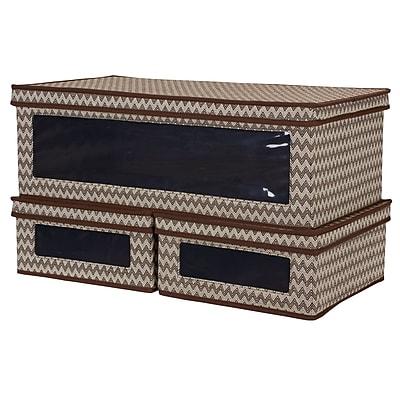 Household Essentials Vision Lidded Storage Box 3-Piece Set (509-3)
