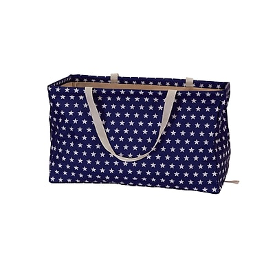 Household Essentials Krush Container Rectangle Tote Bag, White Star On Blue (2240)