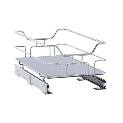 Household Essentials Glidez Non-Slip 1-Tier Sliding Cabinet Organizer 11.5 Inch Wide (C2512-1)