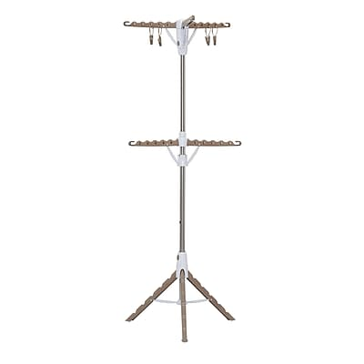 Household Essentials 2-Tier Tripod Clothes Dryer With Hanging Clothespins (5052-1)