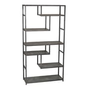Household Essentials Slate Faux Concrete Tall Open Shelf Bookcase (8090-1)