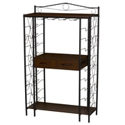 Household Essentials Victorian Compact Wine Rack Sideboard (8048-1)