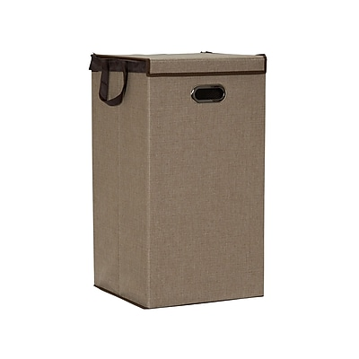 Household Essentials Collapsible Sand Laundry Hamper (5632)
