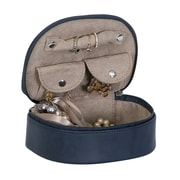 Mele & Co. Rowley Faux Leather Travel Jewelry Case in Midnight Blue